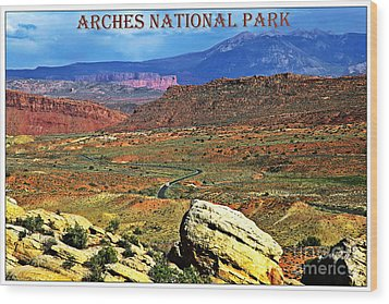 Arches National Park Wood Print by Sophie Vigneault