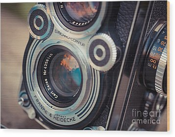 Old Vintage Camera Wood Print by Sabino Parente