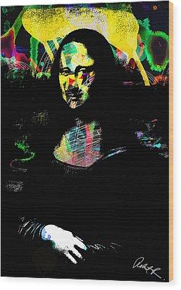 42x60 Mona Lisa Screwed - Huge Signed Art Abstract Paintings Modern Www.splashyartist.com Wood Print