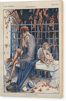 1920s France La Vie Parisienne Wood Print by The Advertising Archives
