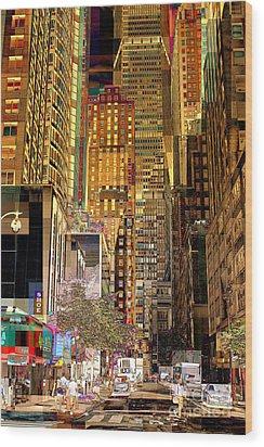 45th Street Redux Wood Print by Miriam Danar
