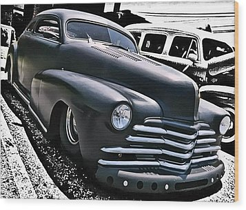 Wood Print featuring the photograph '47 Chevy Lowrider by Victor Montgomery