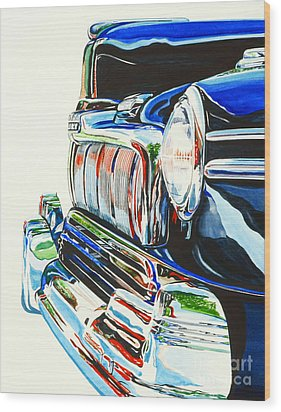 47 Mercury Wood Print by Rick Mock