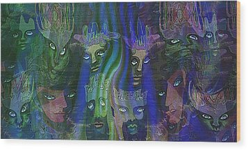 484 - Feline  People   Wood Print