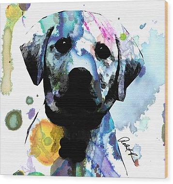 48x44 Labrador Puppy Dog Art- Huge Signed Art Abstract Paintings Modern Www.splashyartist.com Wood Print