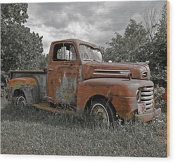 Wood Print featuring the photograph '49 Ford Pick-up by Christopher McKenzie