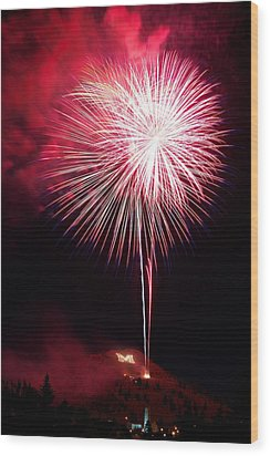 Wood Print featuring the photograph 4th July Butte Mt 2013 by Kevin Bone