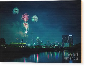 4th Of July At Indianapolis Wood Print by Jose Sanchez