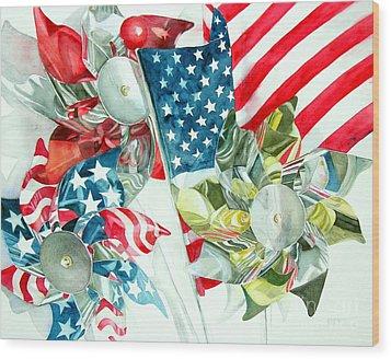 4th Of July Wood Print by Elizabeth  McRorie