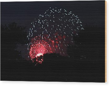 4th Of July Fireworks - 011316 Wood Print by DC Photographer