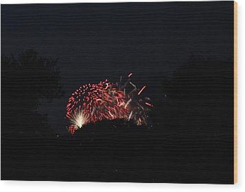 4th Of July Fireworks - 011318 Wood Print by DC Photographer
