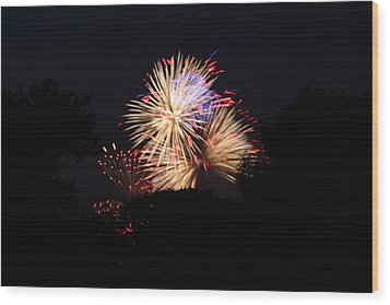 4th Of July Fireworks - 011320 Wood Print by DC Photographer