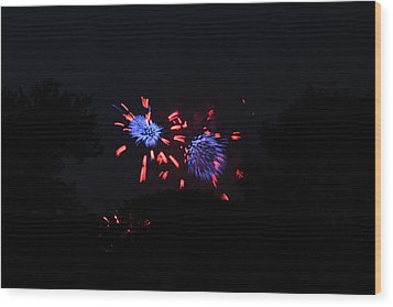 4th Of July Fireworks - 011323 Wood Print by DC Photographer