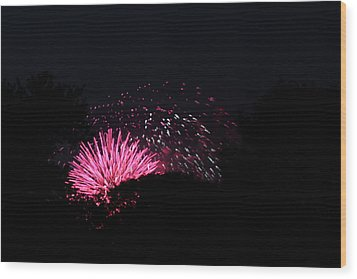 4th Of July Fireworks - 011328 Wood Print by DC Photographer