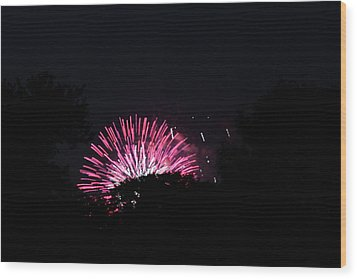 4th Of July Fireworks - 011329 Wood Print by DC Photographer