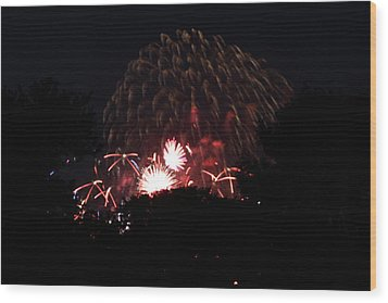 4th Of July Fireworks - 011333 Wood Print by DC Photographer