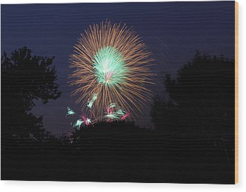 4th Of July Fireworks - 01134 Wood Print by DC Photographer