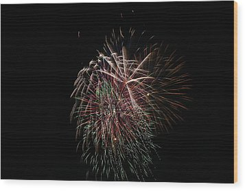4th Of July Fireworks Wood Print by Alan Hutchins