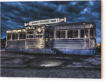 4th Street Diner Wood Print