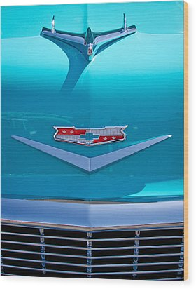 1956 Chevy Bel Air Wood Print by David Patterson