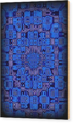 Abstract 119 Wood Print by J D Owen