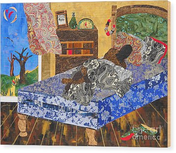5 Am Wood Print by Paula Drysdale Frazell