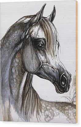 Arabian Horse Wood Print by Angel  Tarantella