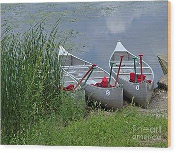At Waters Edge Wood Print