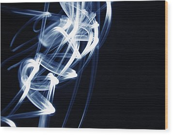 Blue Lines  Wood Print by Les Cunliffe