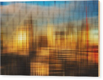 Blurred Abstract Colorful Background Wood Print by Matthew Gibson