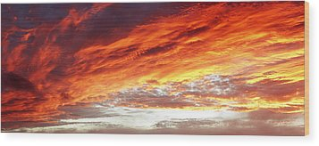 Bright Sky Wood Print by Les Cunliffe