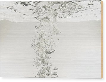 Bubbles Underwater Wood Print by Sami Sarkis