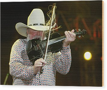Charlie Daniels Wood Print by Don Olea