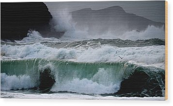Clogher Waves Wood Print