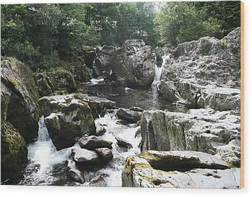 Conwy River Near Betws Y Coed.  Wood Print by Christopher Rowlands