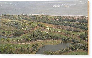 East Coast Aerial Near Jekyll Island Wood Print by Betsy Knapp
