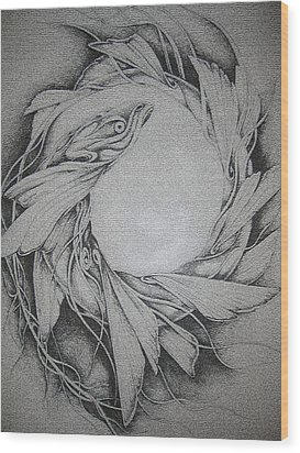 Fish Wood Print by Moshfegh Rakhsha