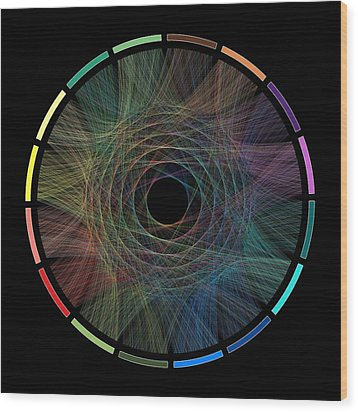 Flow Of Life Flow Of Pi Wood Print by Cristian Ilies Vasile