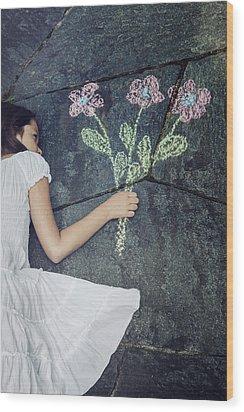 Flowers Wood Print by Joana Kruse