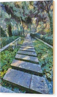 Footpath Wood Print by George Atsametakis