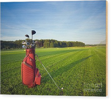 Golf Gear Wood Print by Michal Bednarek