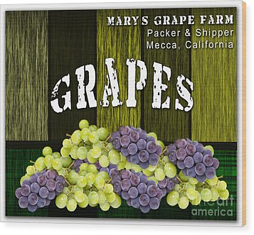 Grape Farm Wood Print