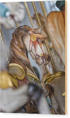 Hampton Carousel Horse Series Wood Print