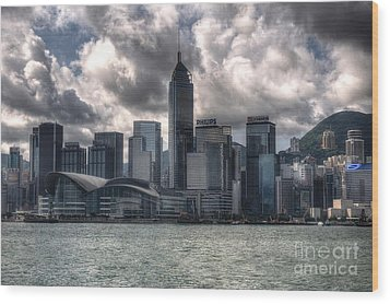 Wood Print featuring the photograph Hong Kong Harbour by Joe  Ng