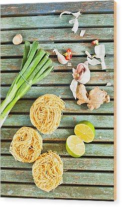Ingredients Wood Print by Tom Gowanlock