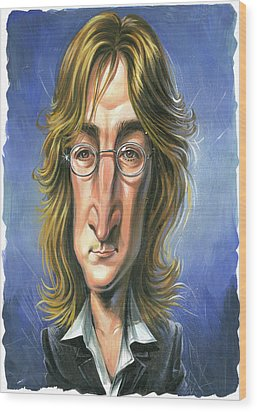 John Lennon Wood Print by Art