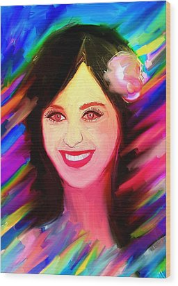 Katy Perry Wood Print