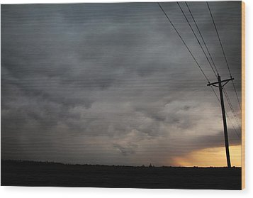 Let The Storm Season Begin Wood Print