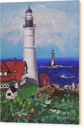 Lighthouse Hill Wood Print
