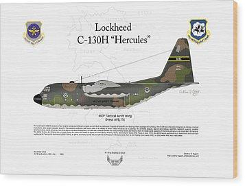 Lockheed C-130h Hercules Wood Print by Arthur Eggers
